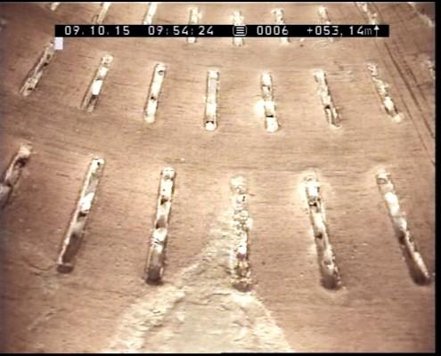 Fig.2: Filtri due ben puliti con dreno visibile